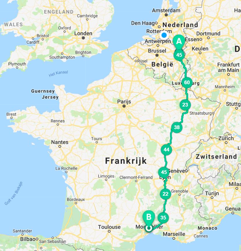 aansluiting app Frankrijk