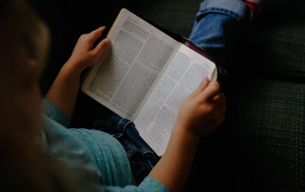 thuisonderwijs meisje lezen